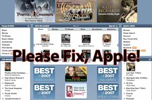 Please Fix the iTunes Store