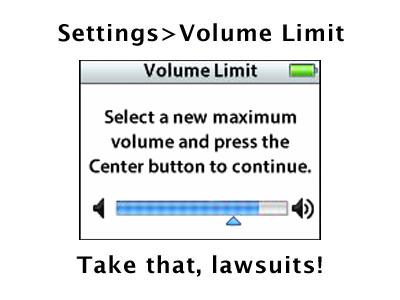 5G iPod Volume Limit Screen