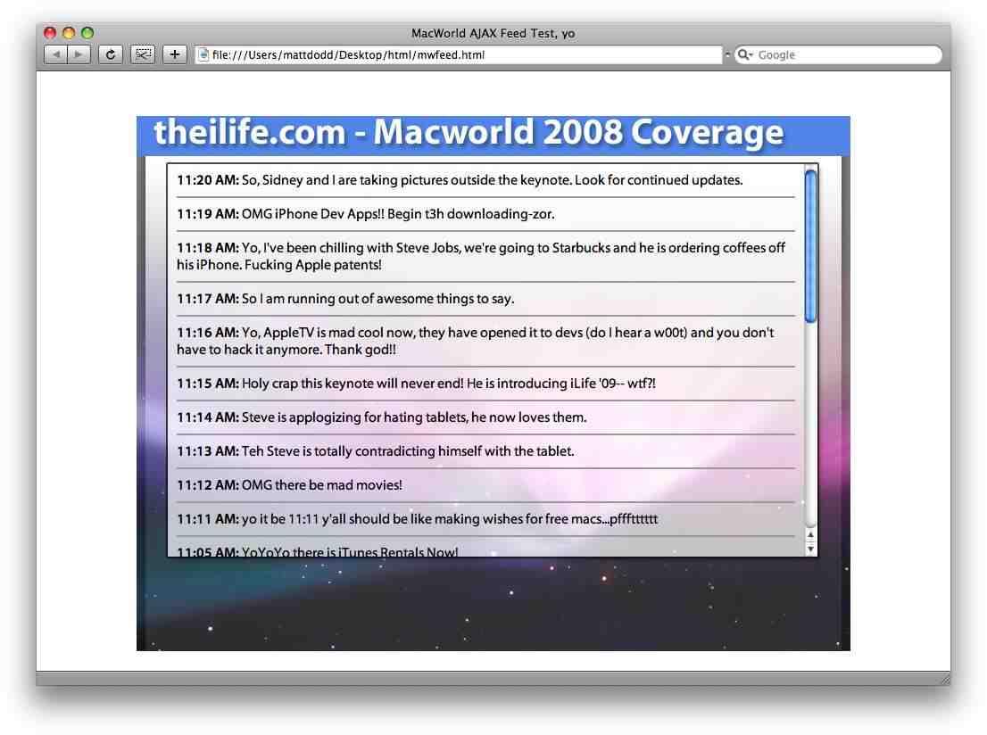 Macworld AJAX v2