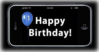 iPhone First Birthday