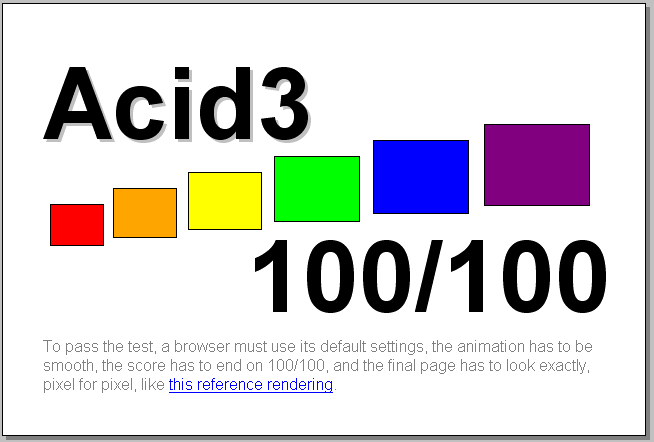 A mock up of what the Acid3 render should look like