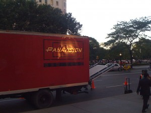 Panavison Truck Outside Apple Store