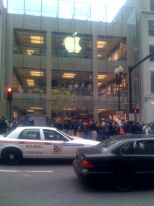 Apple Store Boylston Street Boston Waiting on Line