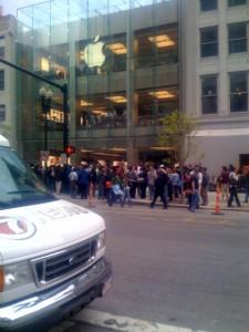 Apple Store Boylston Street Boston Opening Front Store