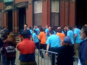 Apple Store Boylston Street People Running Grand Opening Boston