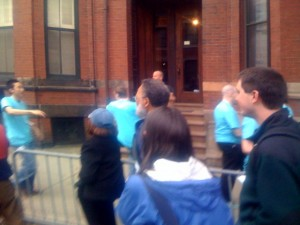 Apple Store Boylston Street Boston Grand Opening Apple Blue Employees