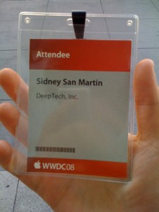 WWDC 2008 Conference Badge