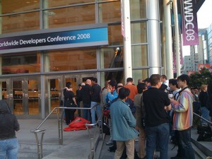 Front of the WWDC 2008 Keynote Line