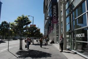 WWDC08 Banner Moscone Center Sidewalk