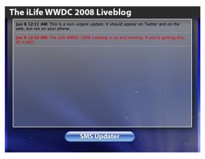 WWDC 2008 Liveblog theiLife