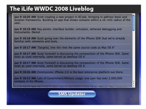 WWDC 2008 Liveblog Unfolding