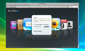 Login to the MobileMe webclient