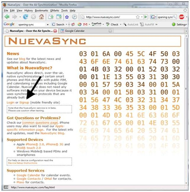 092308 0502 nuevasyncov27 Nuevasync: Over the Air Syncing of Calendar and Contacts for your iPhone or iPod Touch