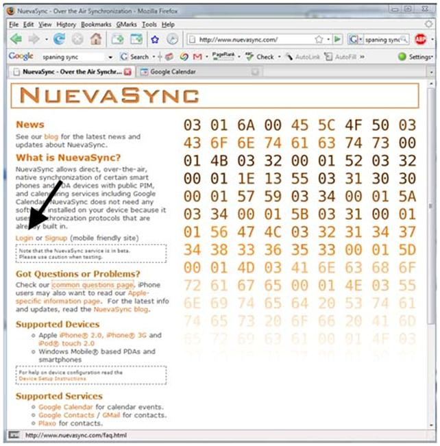 092308 0502 nuevasyncov47 Nuevasync: Over the Air Syncing of Calendar and Contacts for your iPhone or iPod Touch