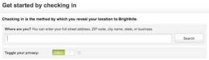 BrightKite Check In