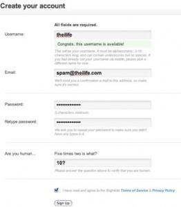 BrightKite Create Account