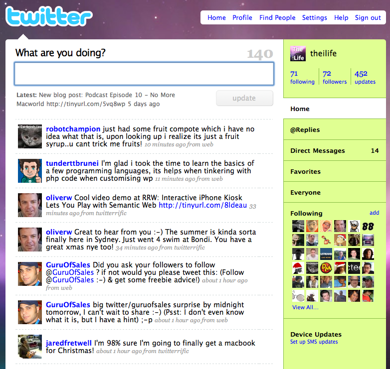 Twitter.com Interface