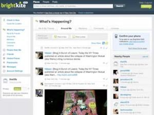 BrightKite What's Happening