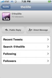 Twitter Profile Page Tweetie 1.3