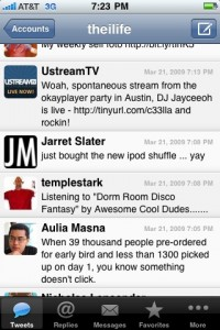 Twitter Main View Tweeite 1.3